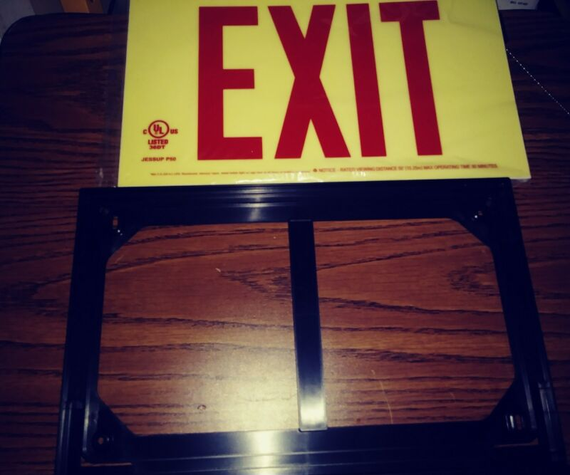 Jessup 7210 Self illuminating Exit Sign, Red