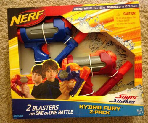 New Nerf Super Soaker Hydro Fury 2-Pack Hasbro 2009.. RARE!!