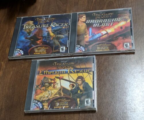 Computer Games -  Disney's Treasure Planet Collection 3 CD-ROM Computer PC Games New/Used