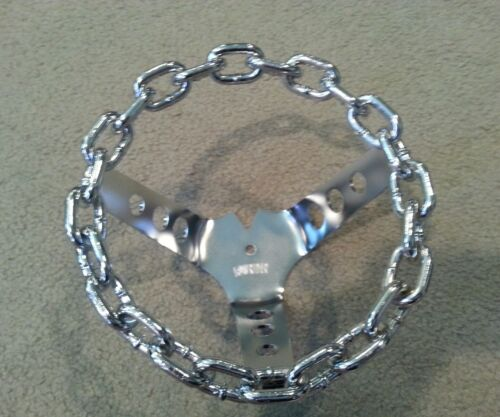 CHROME CHAIN BICYCLE STEERING WHEEL LOWRIDER BICYCLES