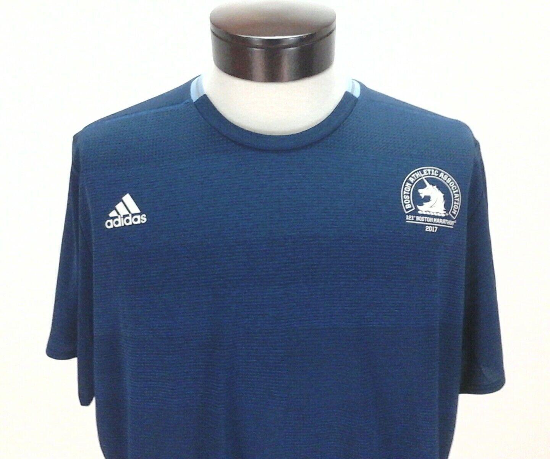 ADIDAS BOSTON MARATHON Shirt JERSEY Blue BK5350 Running SUPERNOVA ClimaCool  New 5ed459f53