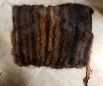 Vintage Fur Mink Muff Hand Warmer Lined with Zippered Pocket Lined Hand Warmer Pockets