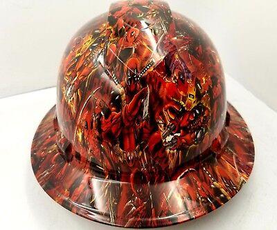 Custom Ridgeline Wide Brim Hard Hat Osha Hydro Dipped In Deadpool Sick Af