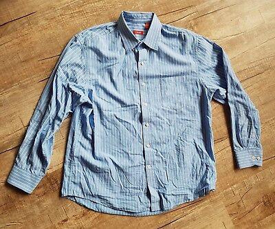 Izod Herren Hemden (Herren Hemd IZOD blau gestreift Gr. L wie neu)
