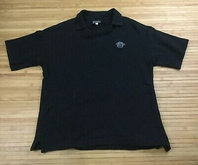 Mens Versace Jeans Couture Thermal V Neck Polo Shirt size Medium