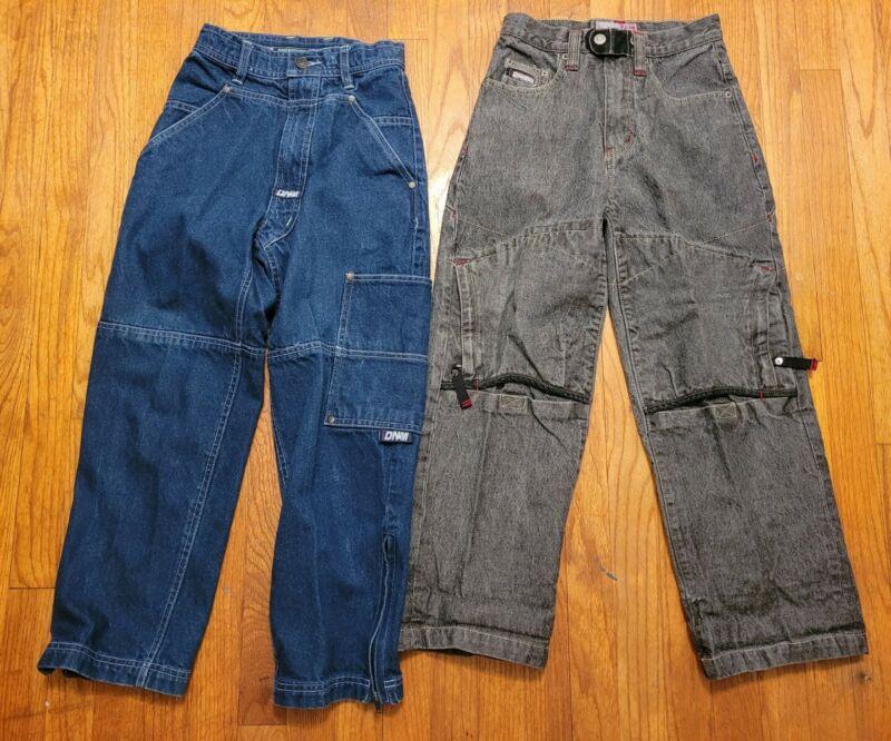 Vtg MECCA DNM Pepe Jeans Wide Leg JNCO Jeans Style size 8 kids 90s Y2K Skater