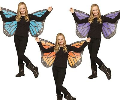 Fly Costume Wings (Butterfly Wings Girls Child Butter Fly Costume Orange Monarch Purple Blue)