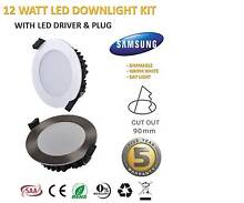 LED 10W 12W 13W DOWNLIGHT KIT WARM/DAYLIGHT DIMMABLE 90mm NEW Sydney City Inner Sydney Preview