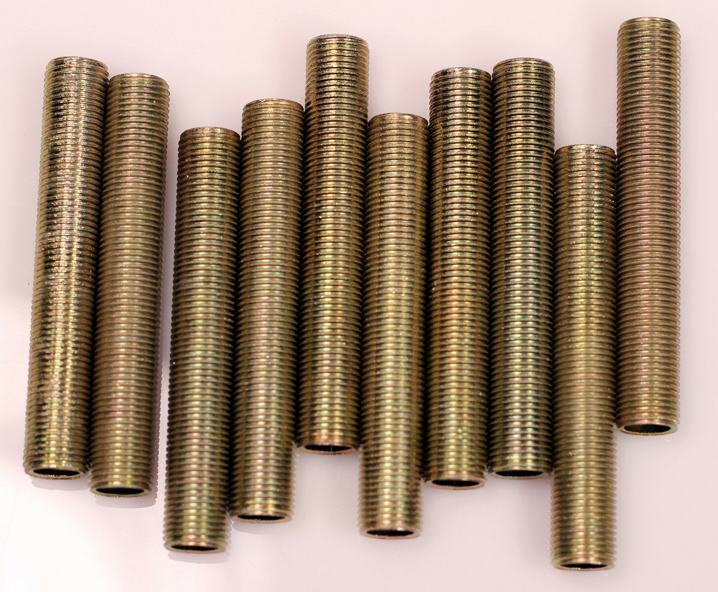 Steel All Thread Lamp Pipe Nipples, 6 Inch, 1/8IP Standard Lamp Pipe, DIY-10 Pcs Collectibles