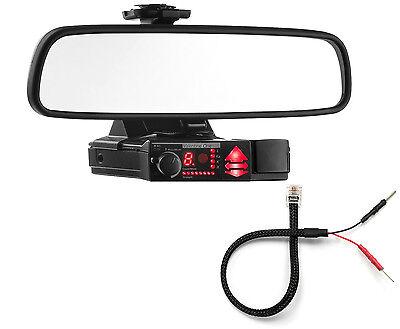 Mirror Mount Bracket + Mirror Wire Cord - Valentine V1 Radar Detector