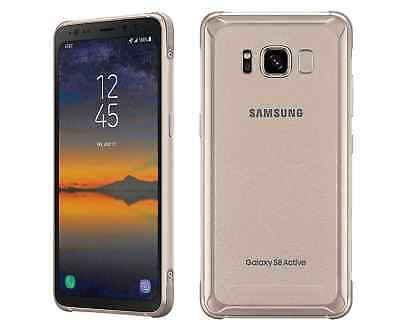 Samsung Galaxy S8 Active-SM G892A 64GB Gold AT&T World GSM...