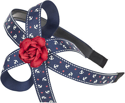 Sailor ANKER Anchor WILLA Red Rose BOW Haarreif / Hairband Rockabilly ()