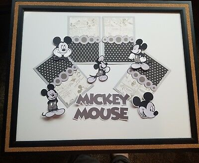 Disney Mickey mouse scrapbook page completion set photo mats and die cut
