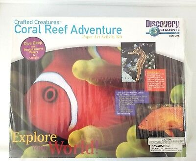 Discovery Channel Crafted Creatures Coral Reef Adventure Paper Art Activity Kit