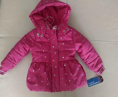 Nautica Pink Star Print Winter Coat. Water Resistant Fiber Fill Size 2t