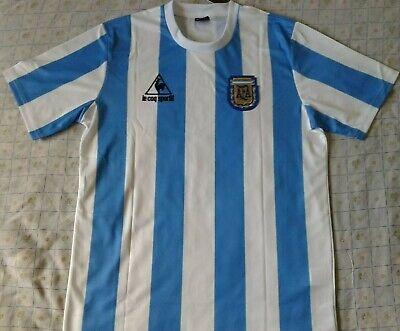 Camiseta Maglia Shirt ARGENTINA World Cup 1986 Nr. 10 MARADONA Retro New