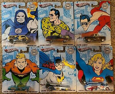 2011 DC Comics Complete Set of 6x Hot Wheels * Pop Culture * NIP 1:64 Scale Mint