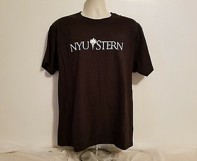 Nyu New York University Stern Adult Large Black Tshirt