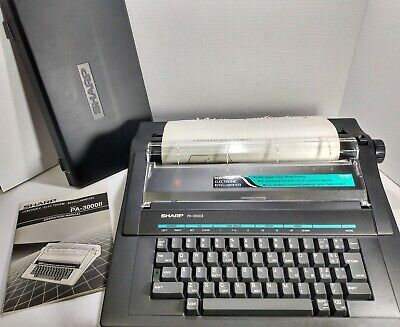 Sharp Pa-3000ii Electric Typewriter Great Working Condition Still Has Ink