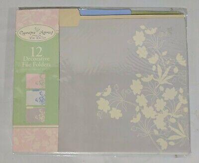 Liz Diller 12 Decorative File Folders In Three Different Designs