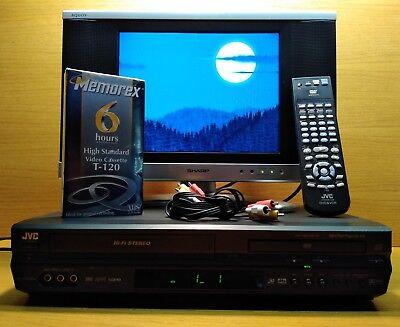 JVC HR-XVC26U Combo Digital ProgressivScan DVD Player + Hifi VCR Recorder/Player (Digitale Vcr-recorder)