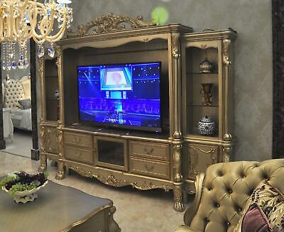 Salón Montaje Medien Pared Fernsehwand Armario de Televisión Barroco Rococo