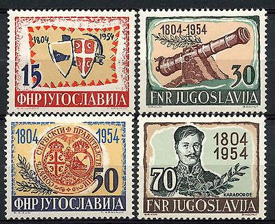 Yugoslavia 1954 SG#778-781 Serbian Insurrection MNH Set Cat £47  #A62696
