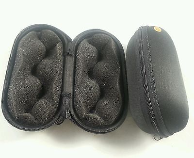 """5"""" Black 2 Padded Pouch Hard Carry Case Protective Smoking Pipe Storage Zipper"""