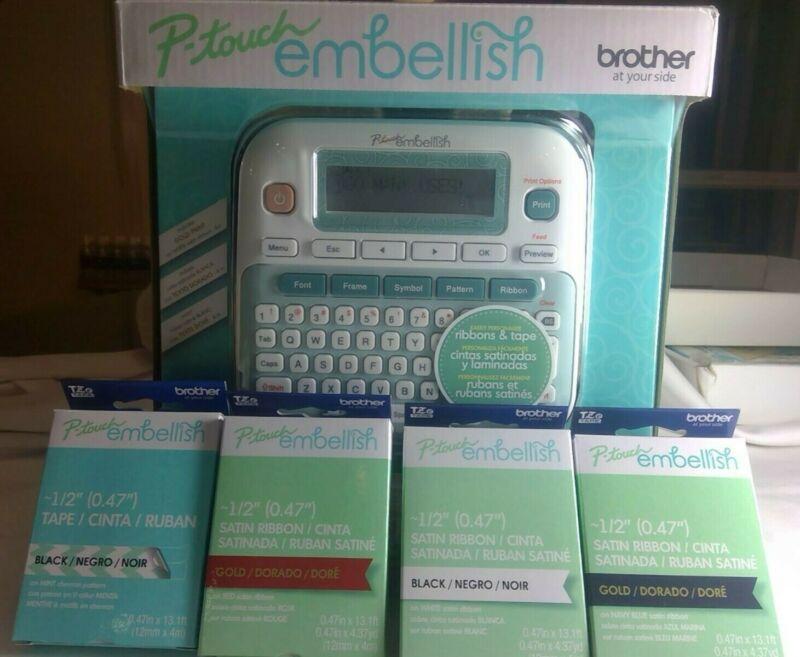 Brother P-touch embellish Ribbon & Tapes Printer Bundle