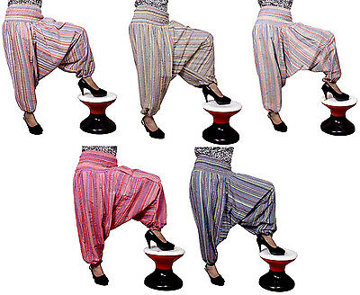 5Pcs Striped Harem Pants Girls Hippie Trousers Aladdin Hobo Gypsy Wholesale Lot