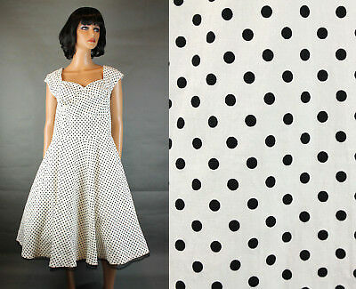 50's Style Party Dress L Black White Polka Dot Pin Up Girl Rockabilly Swing NWT](50s Girl Fashion)