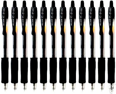 12 Pilot G2 Black Extra Fine 0.5mm Rt Rollerball Pens