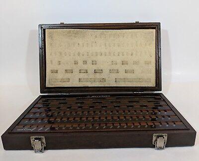 Vtg Mitutoyo Gage Block Wear Block Empty Wood Case Set Be1-81-2 Grade 2 516-902