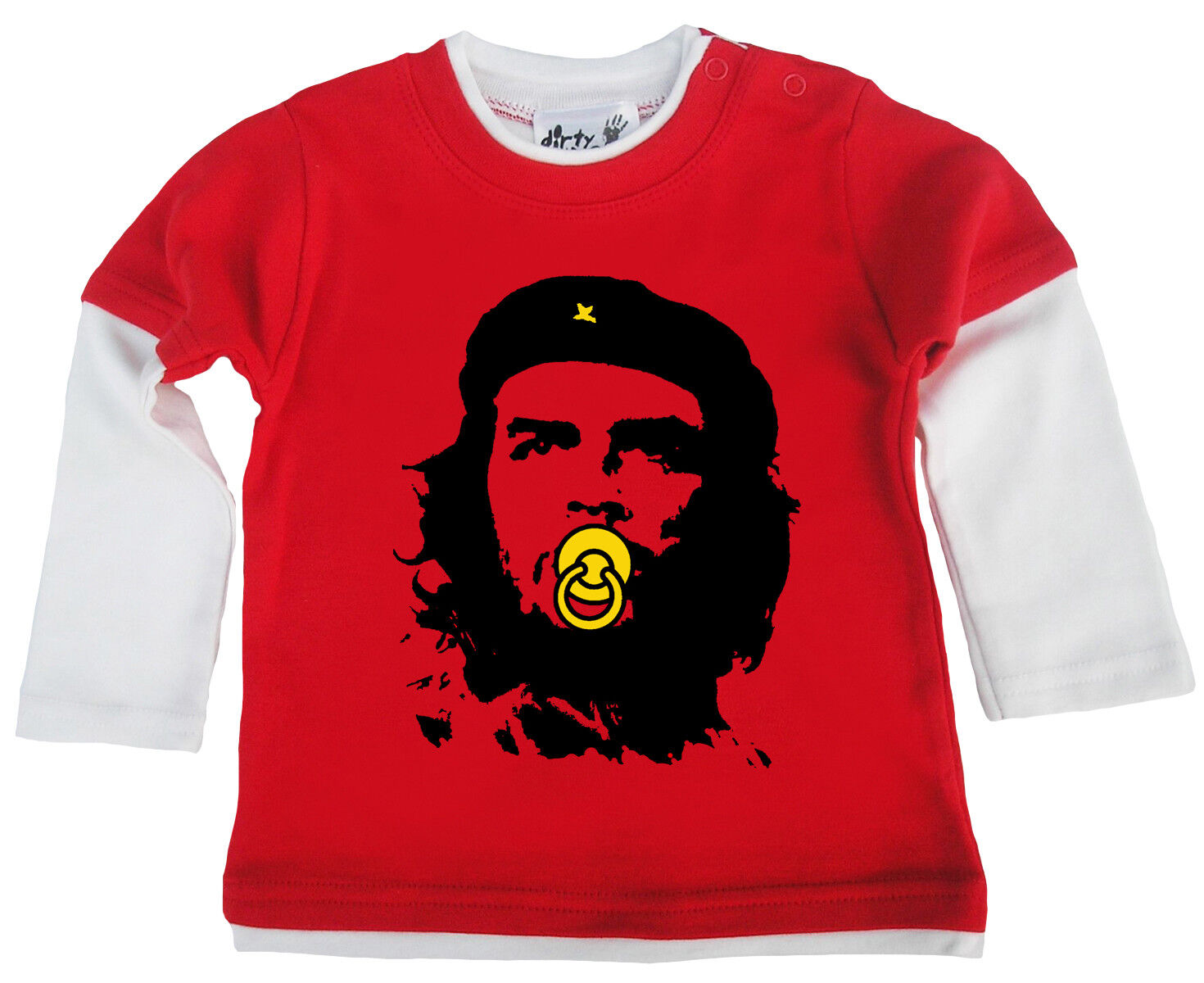 """Lustig Baby Langärmlig Skater Top /"""" Che mit Schnuller /"""" Guevara Geschenk"""