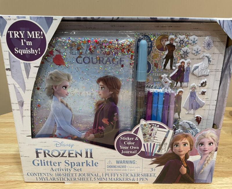 NEW Disney Frozen 2 Glitter Sparkle Journal / Diary Activity Set FREE SHIPPING