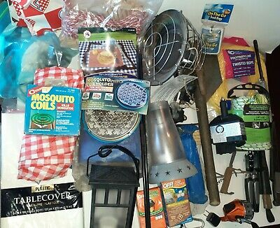 Camping Gear Hiking Outdoor Fishing Bundle Junk drawer style lot Knives heater..