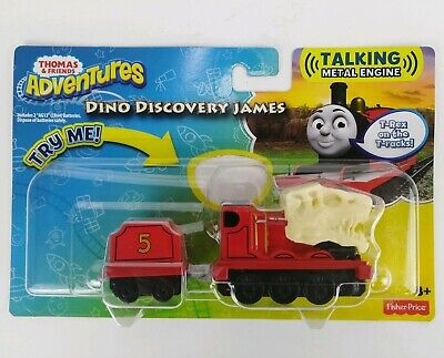 Fisher Price Thomas Adventures Talking Dino Discovery James Die-Cast NIP