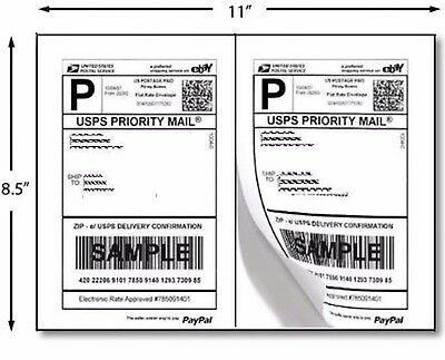 200 Premium Self Adhesive Shipping Labels 8.5