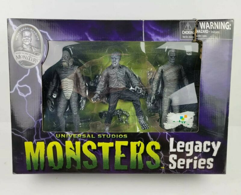 Universal Studios MONSTERS Legacy Series I Statue Toy Figure Set Rare