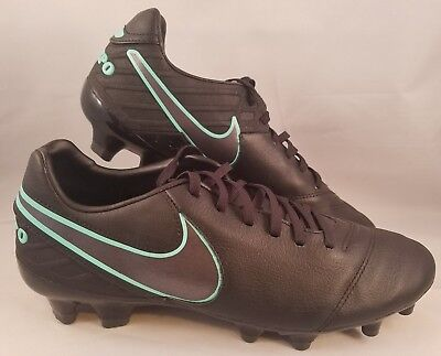 separation shoes 31873 cdc32 Nike Tiempo Mystic V FG Soccer Cleats Men s Size 8 Black Hyper Turquoise