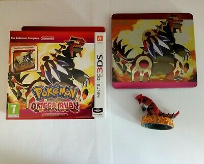 Pokemon Omega Ruby - Limited Edition - Box + Steelbook + Figure - Nintendo 3DS
