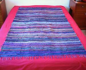 RUG Throw, Bed Cover, Wall Hanging, Vivid Multicoloured/Striped Northbridge Willoughby Area Preview