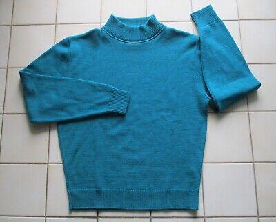 Classic Wool Turtleneck - CLASSIC! Pendleton MOCK TURTLENECK Teal Blue WOOL Sweater M