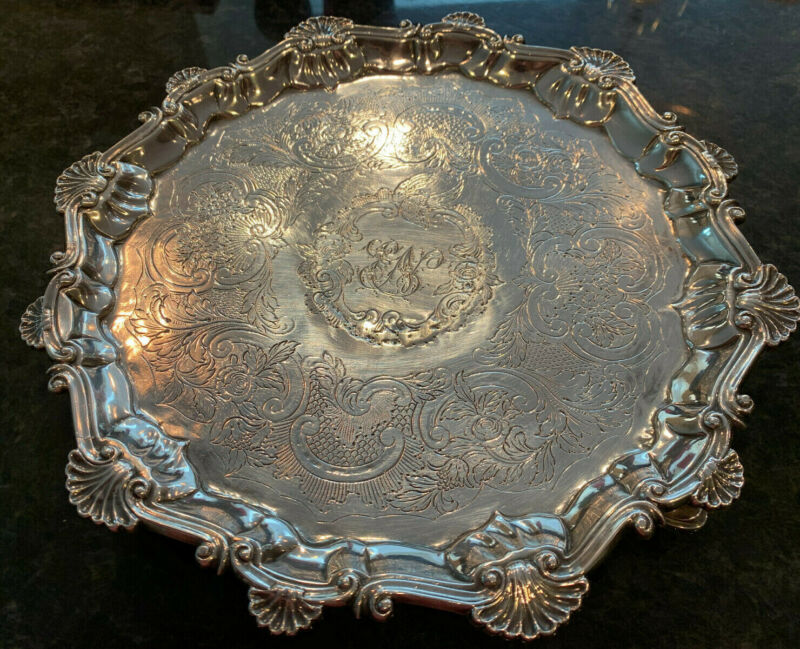 English Sterling Silver Salver, London, 1757-58