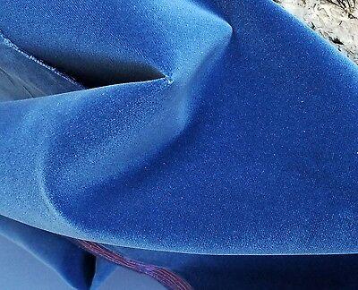 10 YARDS JB MARTIN VELVET BLUE UPHOLSTERY FABRIC