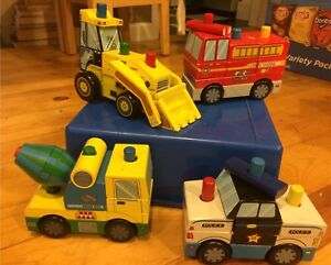 Wooden toy Melissa&Doug puzzle trucks
