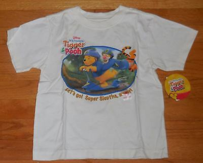 New Disney Store My Friends Boys Tigger & Pooh Super Sleuths Tee T- Shirt 2T-4T