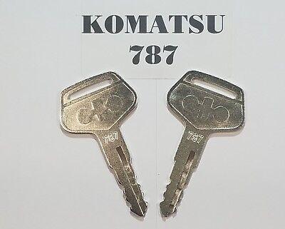2 Komatsu Keys Heavy Equipment Key 787 Will Fit Most Of Komatsu Equipment