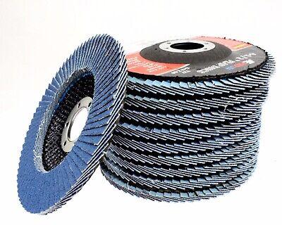 10 Pc 40 Grit Premium Zirconia Flap Disc Sanding Grinding 4-12 X 78 Arbor