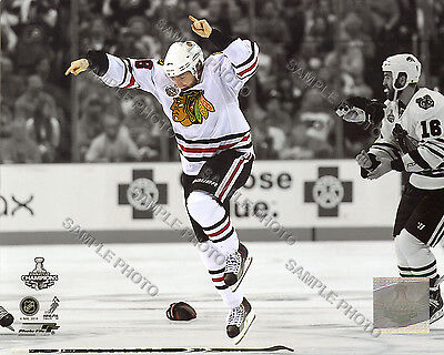 Patrick Kane Game Six 2010 Stanley Cup Finals Winning Goal Spotlight 8x10 Photo